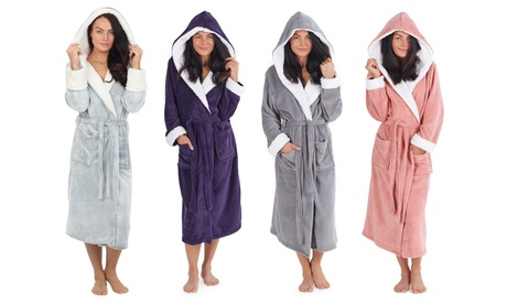 Women's Hooded Dressing Gown