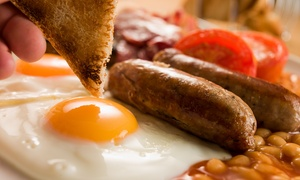 The Travellers Rest: Full English Breakfast with Tea or Coffe for Two or Four at The Travellers Rest (42% Off)