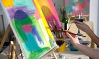 Two-Hour Social Painting Class with Wine for One ($30) or Two People ($59) at Taste for Colour (Up to $120 Value)