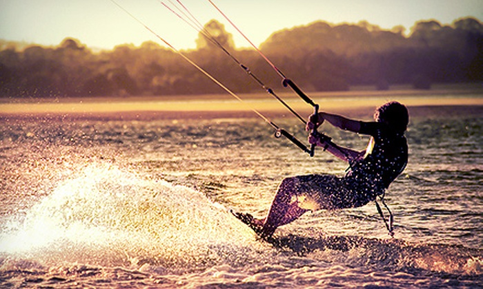 Wet Mitten Surf Shop - Grand Haven: One-Hour Basic or Three-Hour In-Depth Kiteboarding Lesson at Wet Mitten Surf Shop (Up to 57% Off)