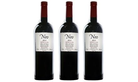 3 o 6 botellas de vino tinto Ribera del Duero Neo 2011 (envío gratuito)