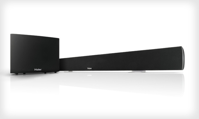 Haier Slim Soundbar and Wireless Subwoofer: $199 for a Haier Slim Soundbar and Wireless Subwoofer ($499.99 List Price). Free Shipping and Free Returns.