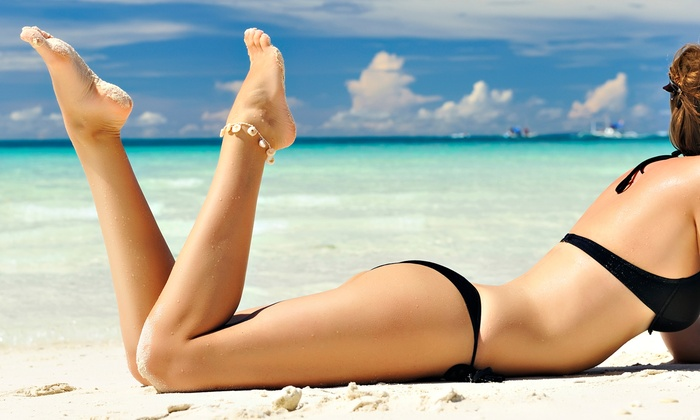 L.A. City Tan - Fishers: Silver Bed Tanning or Airbrush Spray Tans at L.A. City Tan (Up to 64% Off)