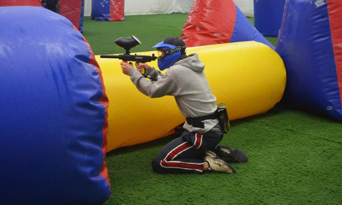 Gatsplat - Lewisville: Indoor Climate controlled Paintball Outing with Equipment for One, Two, Four, or Six at Gatsplat (Up to 64% Off)