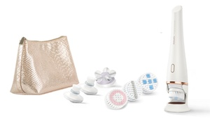 Philips Pure Radiance Skin Care Brush with Brush Heads & Cosmetic Bag