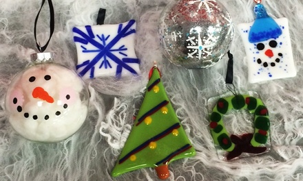 $9 to Create a Glass Holiday Ornament at Hot Fired Arts ($ Value)