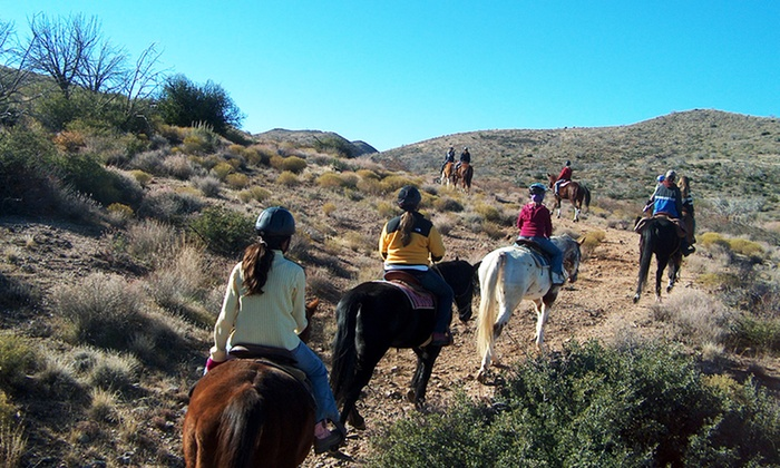Arizona Cowboy College -  Scottsdale: 90-Minute Trail Ride for Two or Four or Summer Horse Camp at Arizona Cowboy College in Scottsdale (Up to 54% Off)