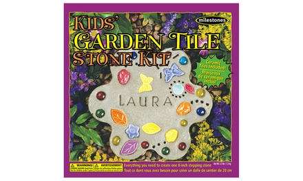 Kids 39 garden tile stone kit groupon goods for Gardening 4 less groupon
