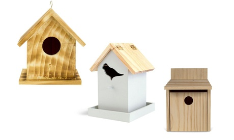 Decorative Wooden Bird Houses (Goods Outdoor Décor Bird Feeders & Baths) photo
