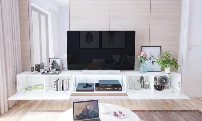 Tv Meubel 300 Cm.Tv Meubels Leo Groupon Goods