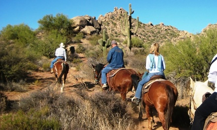 One-Hour Trail Ride on Horseback for One or Two, or Two-Hour Trail Ride for One or Two (Up to 48%Off)