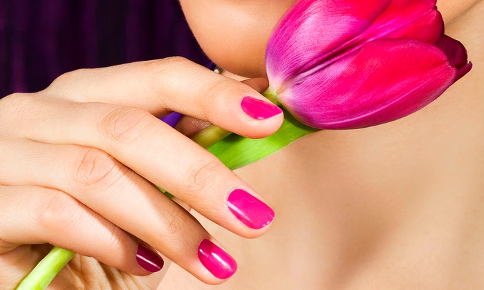 Angel Tips Nail & Spa - Hauppauge: Mani-Pedi Package or Eyelash Extensions at Angel Tips Nail & Spa (Up to 56% Off). Four Options Available.