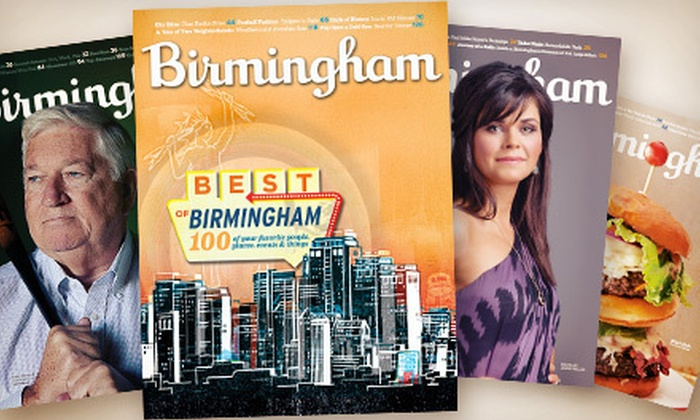 """Birmingham"" Magazine - Birmingham: One- or Two-Year Subscription to ""Birmingham"" Magazine (Up to 54% Off)"
