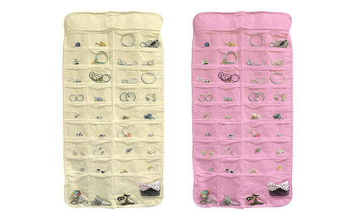 2Pack of 72Pocket Jewelry Organizers Groupon