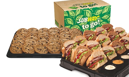 6-Inch Subs, Cookies, and Drinks for Two or One Subway Party Platter at Subway (Up to 36% Off)