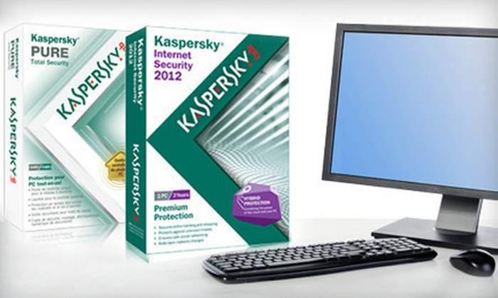 Kaspersky Security Software: Kaspersky Internet Security 2012 or Pure Total Security Software Program (Up to 81% Off). Free Shipping.