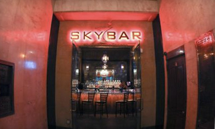 Skybar Lounge - Greektown,Downtown,Theater District: Martinis and Tapas for Two or Four at Skybar Lounge (Up to 55% Off)