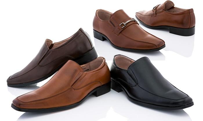 Men's Franco Vanucci Brian Loafers: Franco Vanucci Men's Brian-6 or Brian-8 Loafers in Black, Brown, or Tan. Free Returns.
