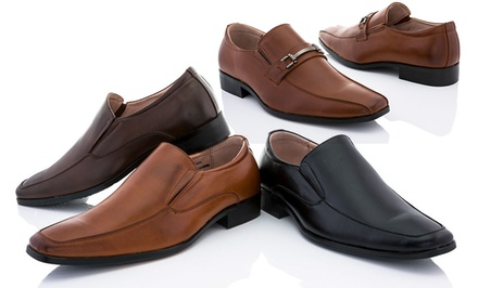Franco Vanucci Men's Brian-6 or Brian-8 Loafers in Black, Brown, or Tan. Free Returns.