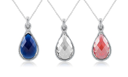 Birthstone Pendant Necklace with Swarovski Elements