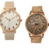 Cork or Wood-Look Watches for Men and Women