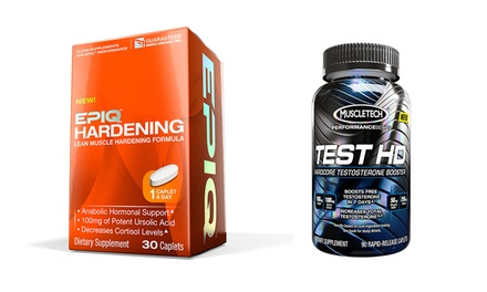 Supplement Bundle with 45-Day Supply of MuscleTech Test HD and 30-Day Supply of Epiq Hardening