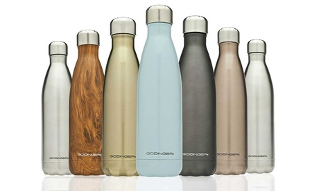 Godinger 24-Hour Insulated Stainless Steel Water Bottle