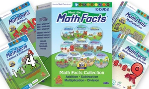 Meet the Math Facts DVD Set with Bonus Digital Book (11-Piece)