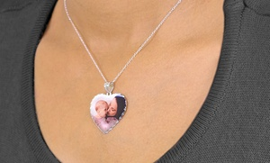 $38 For A Sterling-silver Photo Pendant With Diamond Cuts From Monogramhub.com ($139.99 Value)
