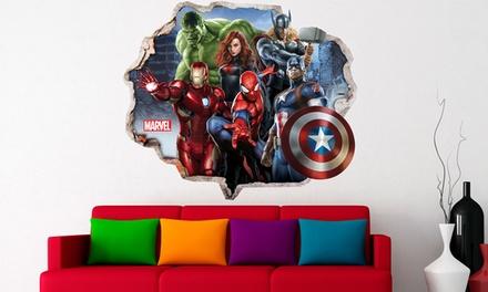 Selbstklebende Wanddekoration im Marvel-Motiv nach Wahl