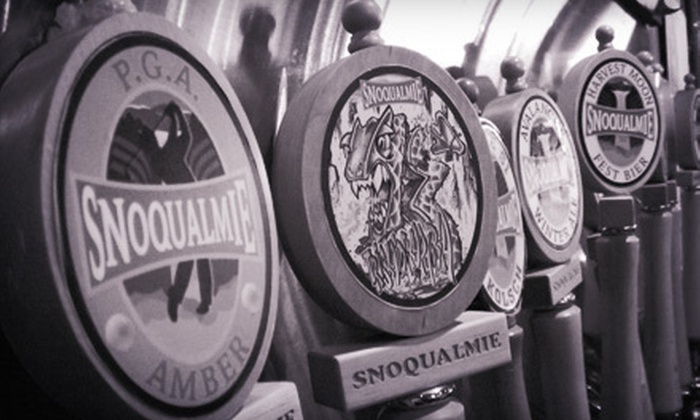 Snoqualmie Brewery and Taproom - Snoqualmie: Pints and Refillable Growlers for Two or Four at Snoqualmie Brewery and Taproom (51% Off)