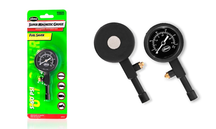 2-Pack of Slime Super Magnetic Tire Gauges with Bleeder Valves: 2-Pack of Slime Super Magnetic Tire Gauges with Bleeder Valves. Free Returns.