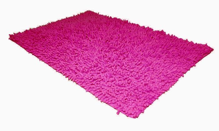 1 ou 2 tapis de bain Shaggy plusieurs coloris au choix dès 1099€ (jusqu'à 55% de rduction)