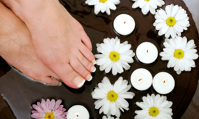 Pure Spa and Salon - Dallas: Hot-Stone Spa Mani-Pedi with Spa Access for One or Two at Pure Spa and Salon (Up to 58% Off)
