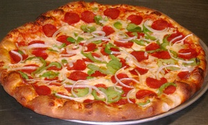 Posti's Pizza: One or Two Large Pizzas and Bread-Bowl Salad or Hoagie at Posti's Pizza (Up to 45% Off)