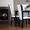 Rinko Black and White 5-Piece Dining Room Set