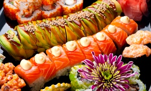 Sushika - Wallsend: Premium Sushi Platter - 50 ($36) or 75 Pieces ($50) from Sushika - Wallsend (Up to $128 Value)