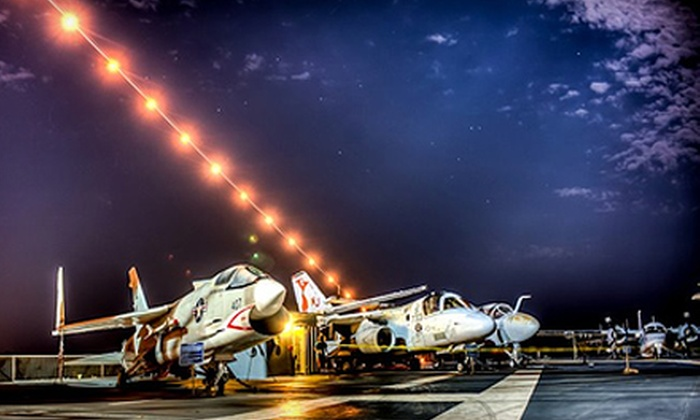 "Top Gun Party Aboard the USS Yorktown Aircraft Carrier - Mount Pleasant: Admission for Two or Four to the ""Top Gun"" Party Aboard the USS Yorktown Aircraft Carrier on Thursday, July 18 (55% Off)"