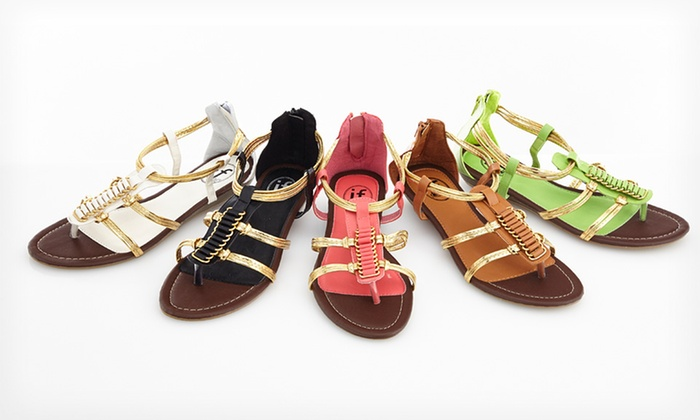 Carrini Gladiator Wedge Sandal: Carrini Gladiator Wedge Sandals. Multiple Colors Available.