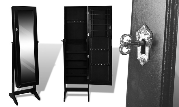 schmuckfach mit spiegel groupon goods. Black Bedroom Furniture Sets. Home Design Ideas
