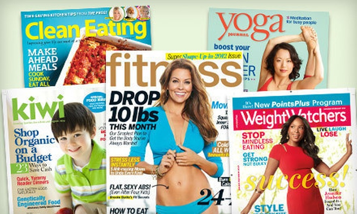 Subscription to Healthy-Living Magazines: Subscription to Your Choice of Eight Healthy-Living Magazines (Up to 52% Off)