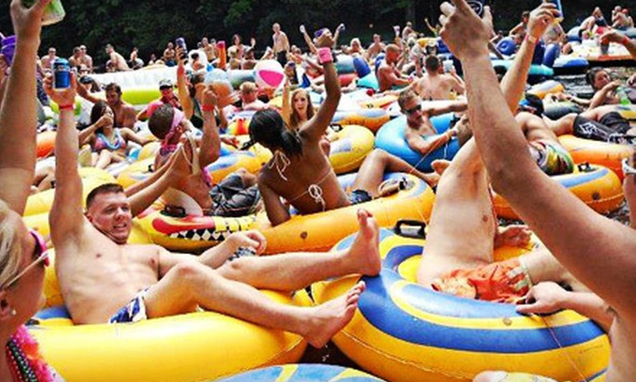Boobs & Tubes - Multiple Locations: River-Tubing Excursion and Barbecue with Transportation from Hoboken or Manhattan from Boobs & Tubes (Up to 60% Off)