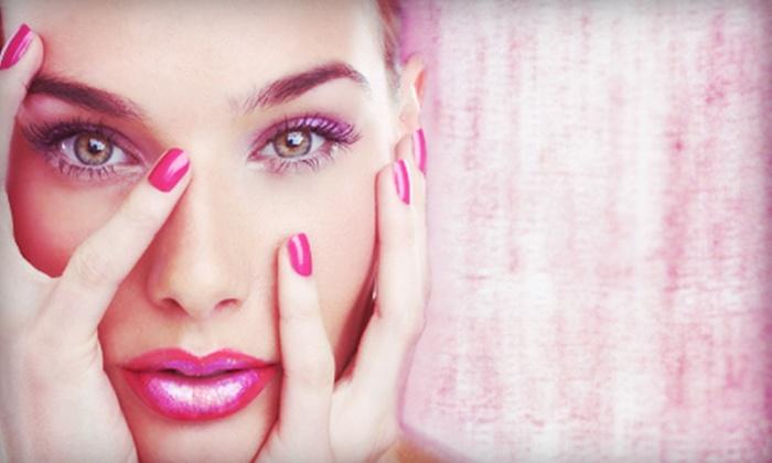 Pretty In Pink Nail Spa - Vista Alegre: One or Two Mani-Pedis at Pretty In Pink Nail Spa (58% Off)