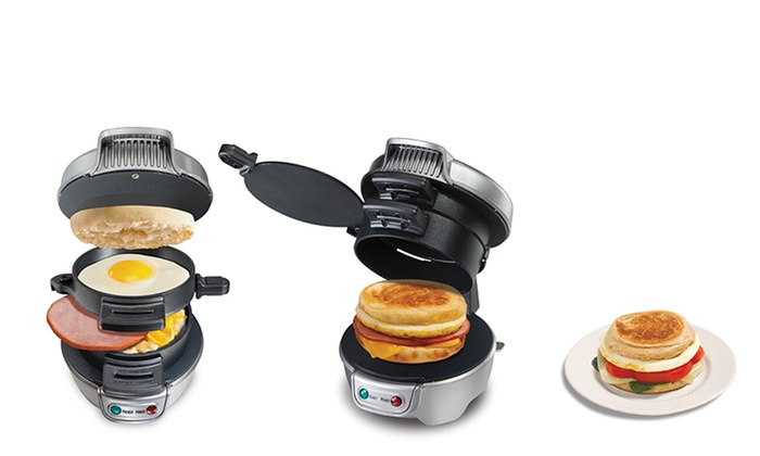 Electric Sandwich Makers : Hamilton beach electric breakfast sandwich maker groupon