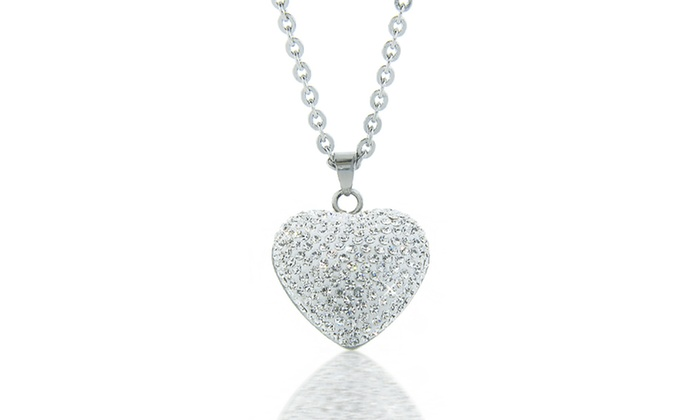 crystal premium izaara necklace index swarovski set silver