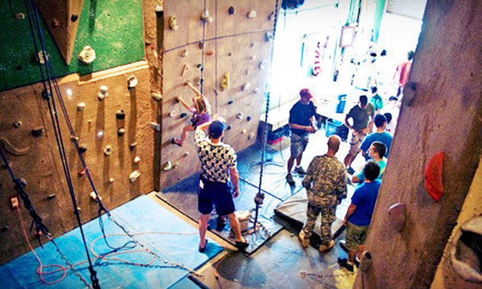 The North Texas Outdoor Pursuit Center - The Historic Grain Silos: Indoor Rock Climbing at The North Texas Outdoor Pursuit Center (Up to 51% Off). Three Options Available.