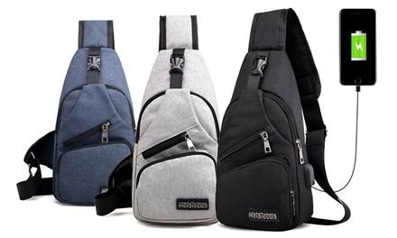 1 o 2 mochilas con puerto de carga USB y opción a cable lightning o micro-USB