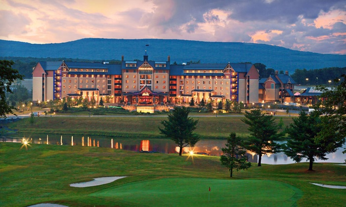 Mount Airy Casino Resort - Paradise: One-Night Stay with Resort Credit at Mount Airy Casino Resort in the Poconos, PA. Valid Sunday–Thursday.