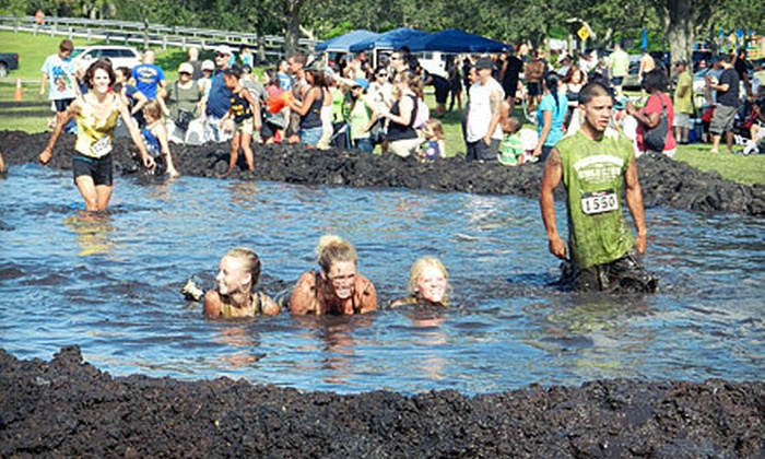 Mud Dogs - Davie: $40 for One Mud Dogs 5K Mud Run Obstacle Course Entry with Nylon Sport Bag on Sunday, March 24 (Up to $80 Value)