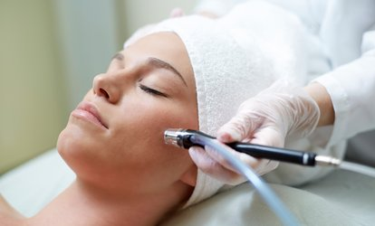 Microdermabrasion with Organic Facial and Collagen Mask (50% Off)